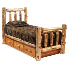12300 Underbed 3 Drawer Dresser-Traditional Cedar Finish