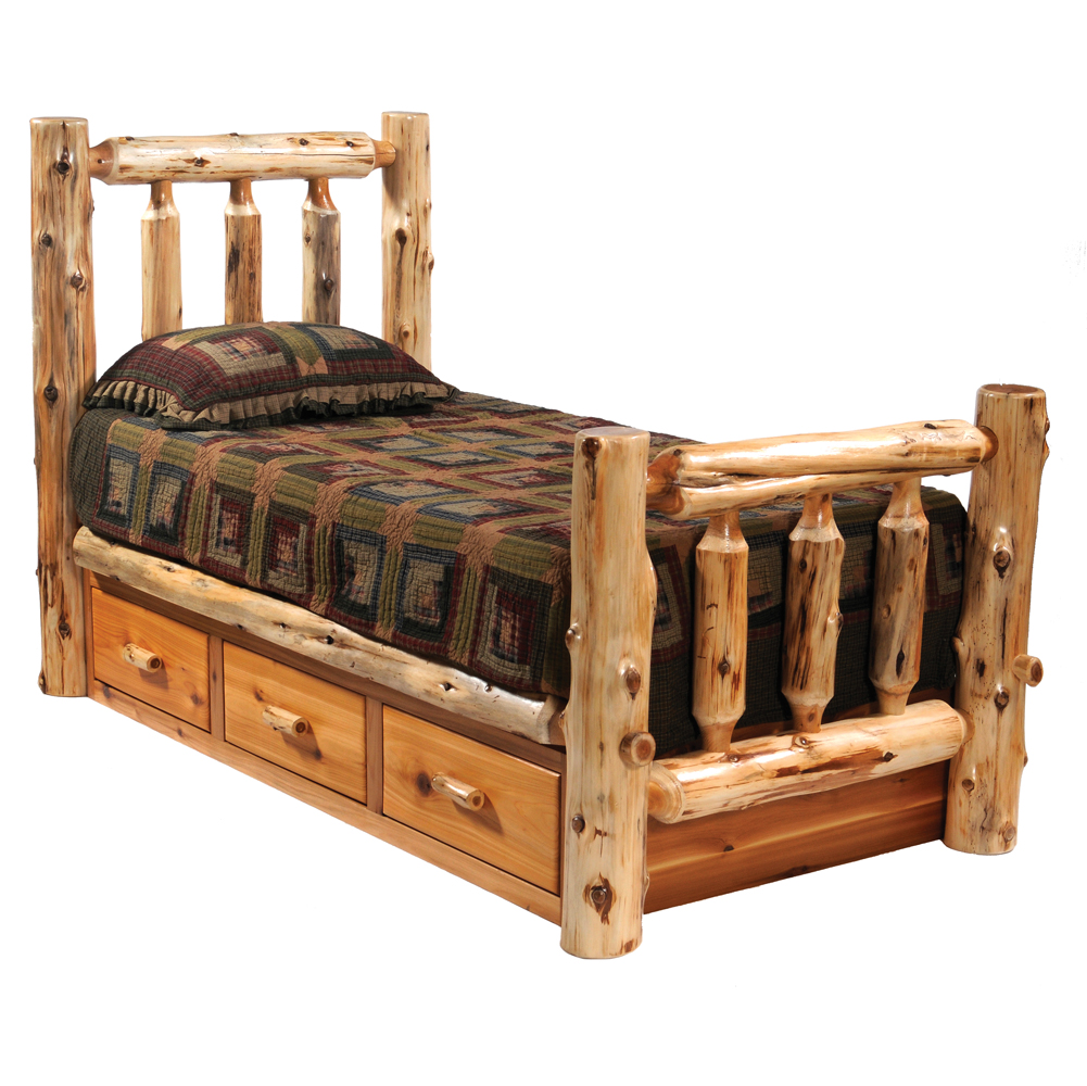 Wood Bed Frames | Bethel – Rustics Log and Country Furniture ...