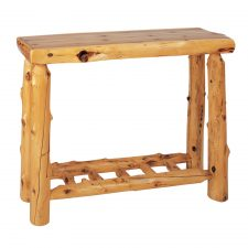 14130 Sofa Table with Open Log Shelf- Traditional