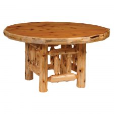 15020 Round Log Dining Table 42in- std finish