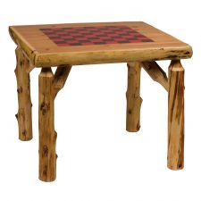 15211Game Table 32in Square with Liquid Glass Finish
