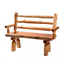 16135 Log Bench with Back and Arms 48in