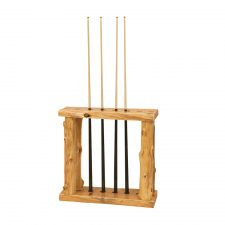 16760 Floor Log Pool Cue Rack- Cedar