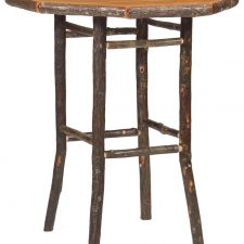 86200 Hickory Pub Table 32in Round-Traditional with std fini
