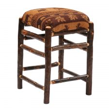 86520 Hickory Backless Counter Stool-Square with Upholstered