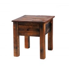 B14021 Barnwood One Drawer End Table- Barnwood Legs