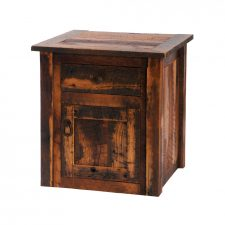 B14041 Barnwood Enclosed End Table - Barnwood Legs