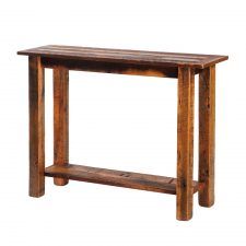 B14130 Barnwood Open Sofa Table with Shelf