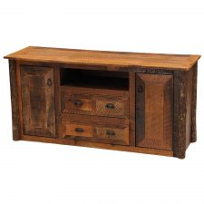 B14250 Barnwood Television Stand- Widescreen- Hickory Legs