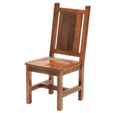 B16140-AO Barnwood Dining Side Chair Contoured Wooden Seat a