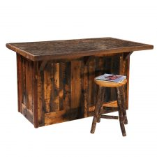 B16180 60in Barnwood Kitchen Island with Laminated Top T (1)