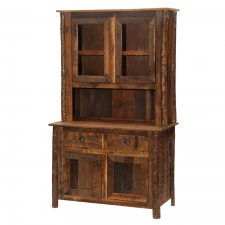 B16185 Barnwood Buffet and Hutch 48in Hickory Legs