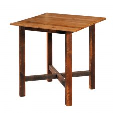 B16208 Barnwood Pub Table - 40 Sqaure std finish